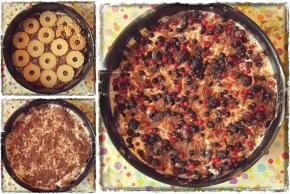Бисквитена торта с маскарпоне и горскиплодове